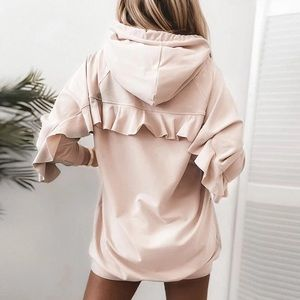 You Had Me At The Ruffle Pullover Hoodie Tunic